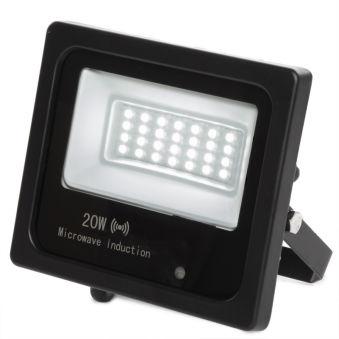Projecteur Led Floodlight IP65 Détecteur De Mouvement Intégré 20W 30.000H  - Couleur Blanc Neutre