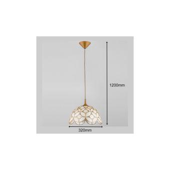 """Lampe Suspendue """" GEORGE"""" 1xE27 Sans Ampoule [ALF-15034]  - Couleur Sans ampoule/voir accessoires"""