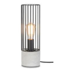 [IAR-MEMPHIS/T/B] Lampe De Table Le Fer/Ciment Memphis 39xØ11,5cm  - Abat jour - Noir