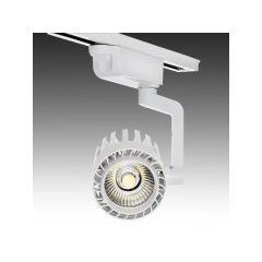 Spot LED Sur Rail Monophasé 30W 2600Lm 30.000H Faith IDI-FC-D-30-CW  - Couleur Blanc Neutre