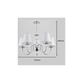 """Lampe Suspendue """"EMMANUELLE"""" 5xE14 Sans Ampoule [ALF-16715]  - Couleur Sans ampoule/voir accessoires"""
