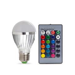Ampoule À LED RGB 3W E27 Sphérique Télécommande  - Couleur RVB