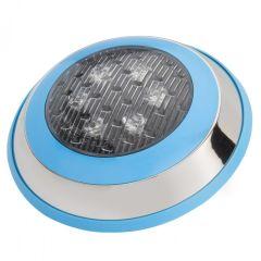 Lumière LED pour Piscine Monté En Surface Ø230Mm 6W RGB Avec Télécommande  - Couleur RVB