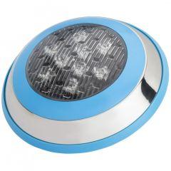 Lumière LED pour Piscine Monté En Surface Ø230Mm 9W RGB Avec Télécommande  - Couleur RVB
