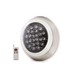 Pack 2 Lumière De La Piscine LED Monté En Surface Ø300Mm Multicouleured Télécommande 24W  - Couleur RVB